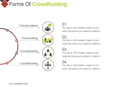 Forms Of Crowdfunding Ppt PowerPoint Presentation Inspiration Design Ideas
