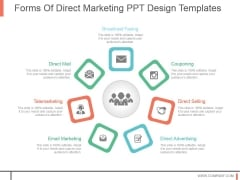 Forms Of Direct Marketing Ppt Design Templates