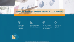 Formulating And Implementing Organization Sales Action Plan 4 Ways To Increase Sales Through A Sales Pipeline Mockup PDF