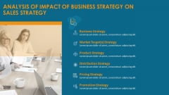 Formulating And Implementing Organization Sales Action Plan Analysis Of Impact Of Business Strategy On Sales Strategy Information PDF