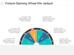 Fortune Spinning Wheel Win Jackpot Ppt PowerPoint Presentation Gallery Designs Cpb