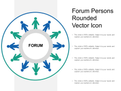 Forum Persons Rounded Vector Icon Ppt Powerpoint Presentation Gallery Graphics