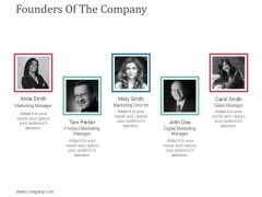 Founders Of The Company Ppt Powerpoint Presentation Ideas Layouts