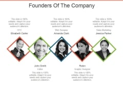 Founders Of The Company Ppt PowerPoint Presentation Inspiration Ideas