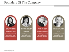 Founders Of The Company Ppt PowerPoint Presentation Slides