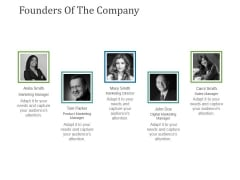 Founders Of The Company Ppt PowerPoint Presentation Styles Example