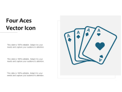 Four Aces Vector Icon Ppt PowerPoint Presentation Gallery Microsoft