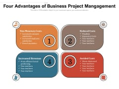 Four Advantages Of Business Project Mangagement Ppt PowerPoint Presentation Summary Files PDF