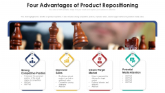 Four Advantages Of Product Repositioning Ppt Portfolio Graphic Tips PDF