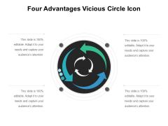 Four Advantages Vicious Circle Icon Ppt PowerPoint Presentation Infographic Template Format Ideas PDF