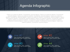 Four Agenda Points With Icons Powerpoint Slides