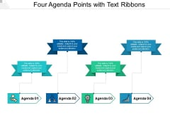Four Agenda Points With Text Ribbons Ppt Powerpoint Presentation Outline Show