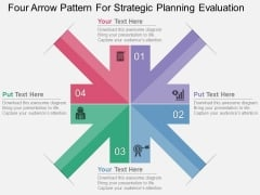 Four Arrow Pattern For Strategic Planning Evaluation Powerpoint Template