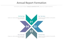 Four Arrow Steps For Business Process Powerpoint Slides