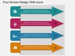 Four Arrows Design With Icons Powerpoint Template