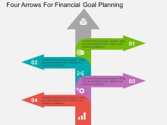 Four Arrows For Financial Goal Planning Powerpoint Template