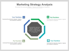 Four Arrows For Marketing Strategy Plan Powerpoint Template