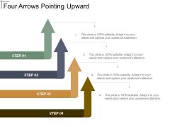 Four Arrows Pointing Upward Ppt PowerPoint Presentation Portfolio Tips