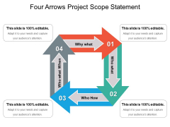Four Arrows Project Scope Statement Ppt PowerPoint Presentation Ideas