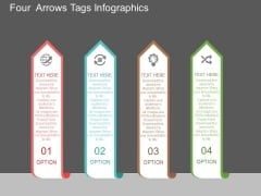 Four Arrows Tags Infographics Powerpoint Template