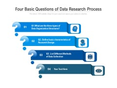 Four Basic Questions Of Data Research Process Ppt PowerPoint Presentation File Slides PDF