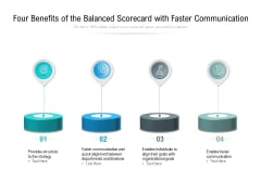 Four Benefits Of The Balanced Scorecard With Faster Communication Ppt PowerPoint Presentation Model Clipart