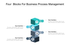 Four Blocks For Business Process Management Ppt PowerPoint Presentation Ideas Microsoft