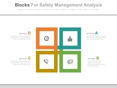 Four Blocks For Business Strategy Plan Powerpoint Template