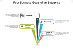 Four Business Goals Of An Enterprise Ppt PowerPoint Presentation Icon Example File