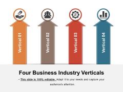 Four Business Industry Verticals Ppt PowerPoint Presentation Slides Samples PDF