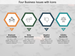 Four Business Issues With Icons Ppt PowerPoint Presentation Gallery Shapes