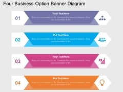 Four Business Option Banner Diagram Powerpoint Template