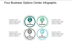 Four Business Options Circles Infographic Ppt PowerPoint Presentation Pictures Smartart