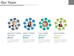 Four Business Person For Social Network Powerpoint Slides