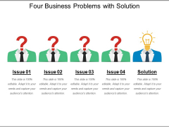 Four Business Problems With Solution Ppt PowerPoint Presentation Portfolio Graphic Tips PDF