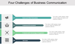 Four Challenges Of Business Communication Ppt PowerPoint Presentation Portfolio Vector
