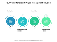 Four Characteristics Of Project Management Structure Ppt PowerPoint Presentation Inspiration Maker