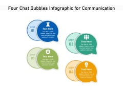 Four Chat Bubbles Infographic For Communication Ppt PowerPoint Presentation Gallery Shapes PDF