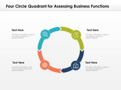 Four Circle Quadrant For Assessing Business Functions Ppt PowerPoint Presentation Gallery Icons PDF