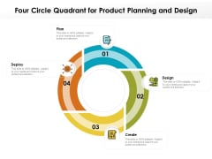 Four Circle Quadrant For Product Planning And Design Ppt PowerPoint Presentation File Mockup PDF