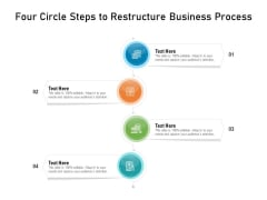 Four Circle Steps To Restructure Business Process Ppt PowerPoint Presentation Gallery Format Ideas PDF
