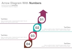 Four Circles Arrow Diagram For Planning Steps Powerpoint Template