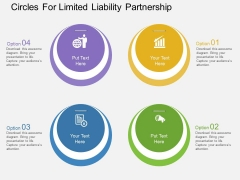 Four Circles For Limited Liability Partnership Powerpoint Template