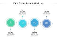 Four Circles Layout With Icons Ppt PowerPoint Presentation File Background Image PDF