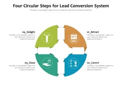 Four Circular Steps For Lead Conversion System Ppt PowerPoint Presentation Inspiration Samples PDF