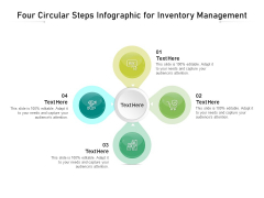 Four Circular Steps Infographic For Inventory Management Ppt PowerPoint Presentation Icon Ideas PDF