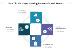 Four Circular Steps Showing Business Growth Process Ppt PowerPoint Presentation Layouts Sample PDF