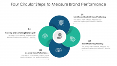 Four Circular Steps To Measure Brand Performance Ppt PowerPoint Presentation Summary Tips PDF