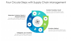 Four Circular Steps With Supply Chain Management Ppt PowerPoint Presentation Infographic Template Slides PDF