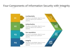 Four Components Of Information Security With Integrity Ppt PowerPoint Presentation File Gallery PDF